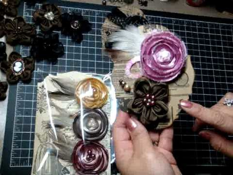 Handmade flowers & vintage pockets and bags
