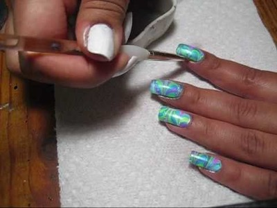 How To:  Clean Up Your Nails (After Water Marbling or Sponging)