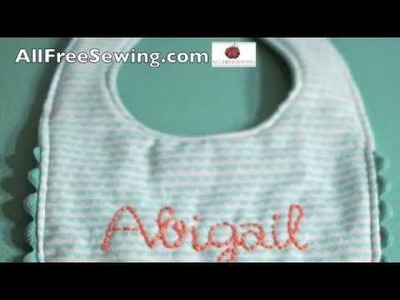 How to Make a Baby Bib - Hand Embroidered Bib Tutorial