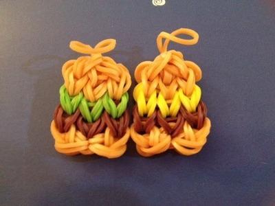 How to Make a Hamburger Charm on the Rainbow Loom - Original Design