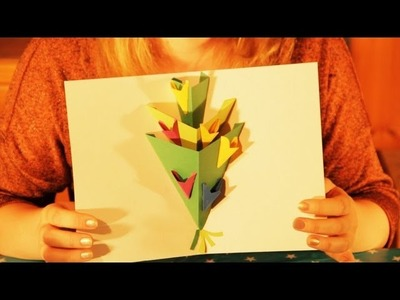 How to Make a Pop-Up Flowers Greeting Card - Happy Birthday, Happy Easter, Mothers Day.