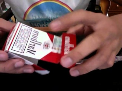 How to make an ashtray from pack of cigarettes