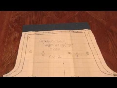 How to Make Layering Leggings with Pattern (Reupload)