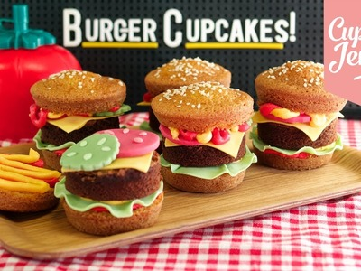 How to make Super-cute Burger Cupcakes! | Cupcake Jemma