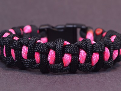 """How to Make the """"Wormhole"""" Design Paracord Survival Bracelet - Bored?Paracord!"""