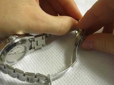 How to Micro Adjust Watch Bracelet