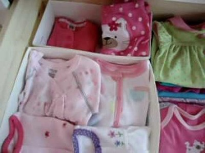 How to organize dresser for baby with drawer organizer