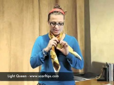 How To Tie A Scarf Light Queen Knot - www.ScarfTips.com