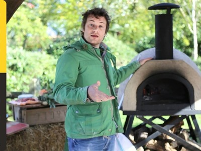 Jamie Oliver shows you how to cook pizza in a wood fired oven