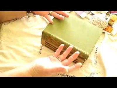"""Junk Journal made using an old Book Cover. """"Extra Binding Ideas*"""