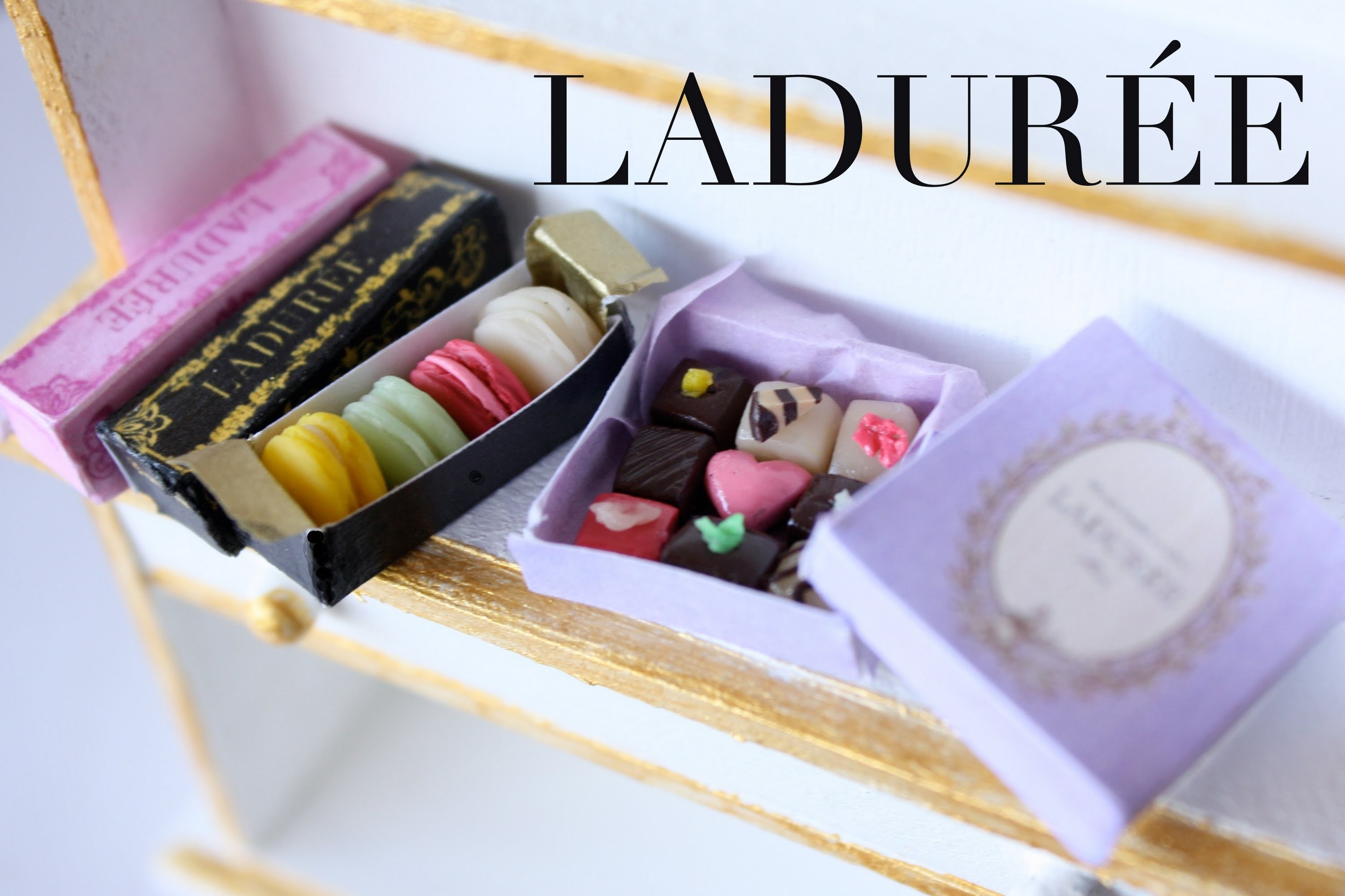 Ladurée Macarons & Chocolate - Polymer Clay Tutorial
