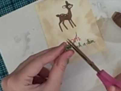 Lawn fawn cards: be a deer while making a card!