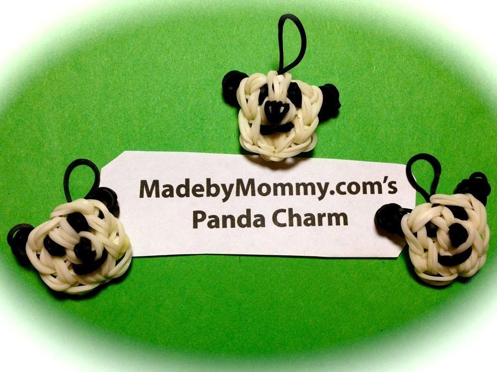 Made by Mommy's Panda Bear Charm on the Rainbow Loom