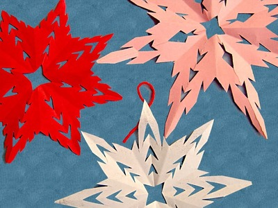 Make Snow Flakes From Paper Cutting To Decorate Your Room On Christmas and New Year