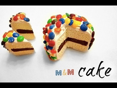 MINI M&M CAKE - Polymer Clay Tutorial