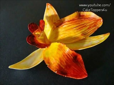 PART I How to make Orchid flower gum paste - with or without cutter