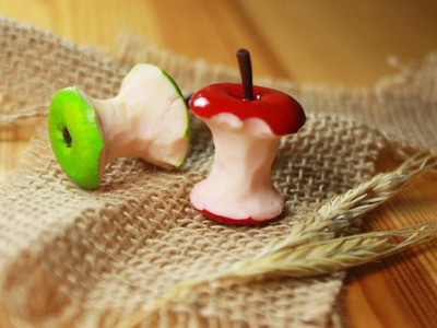 Polymer clay Apple Core TUTORIAL