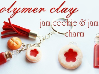 Polymer clay jam cookie & resin jam jar TUTORIAL - jam keychain PART 2