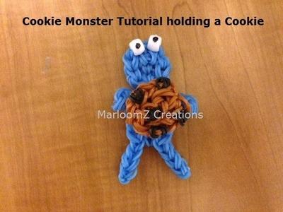 Rainbow Loom Cookie Monster doll or charm - Original Design