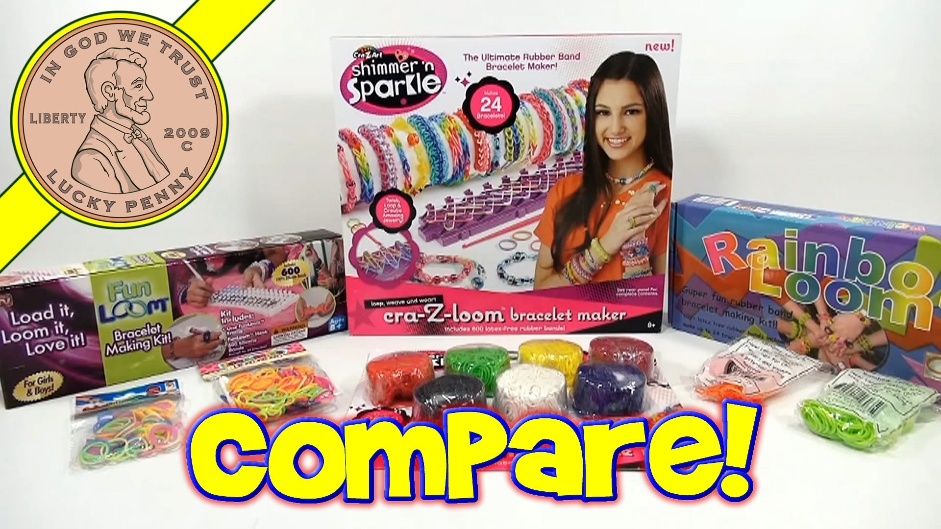 Rainbow Loom, Fun Loom & Cra-Z-Loom Rubber Band - Bracelet Maker Comparisons