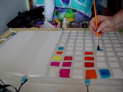 Silk Painting: Creating a Silk Dye Color Chart with Teena Hughes http:.how-to-paint-on-silk.com