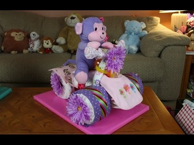Spyder Trike Diaper Cake (How To Make)