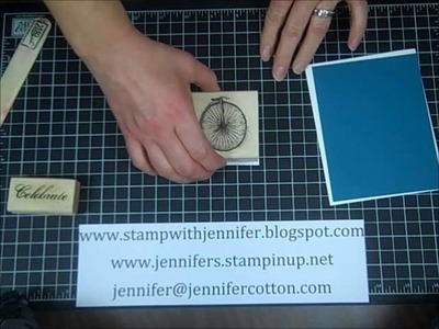 Stampin' Up! how to cut card stock for card making