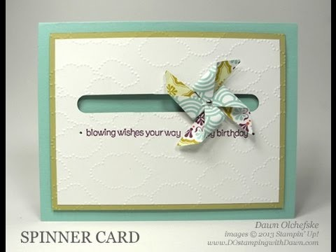 Stampin' Up! Pinwheel Spinner Card