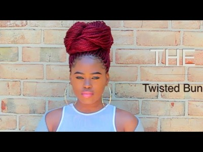 The Twisted Burgundy Bun Tutorial