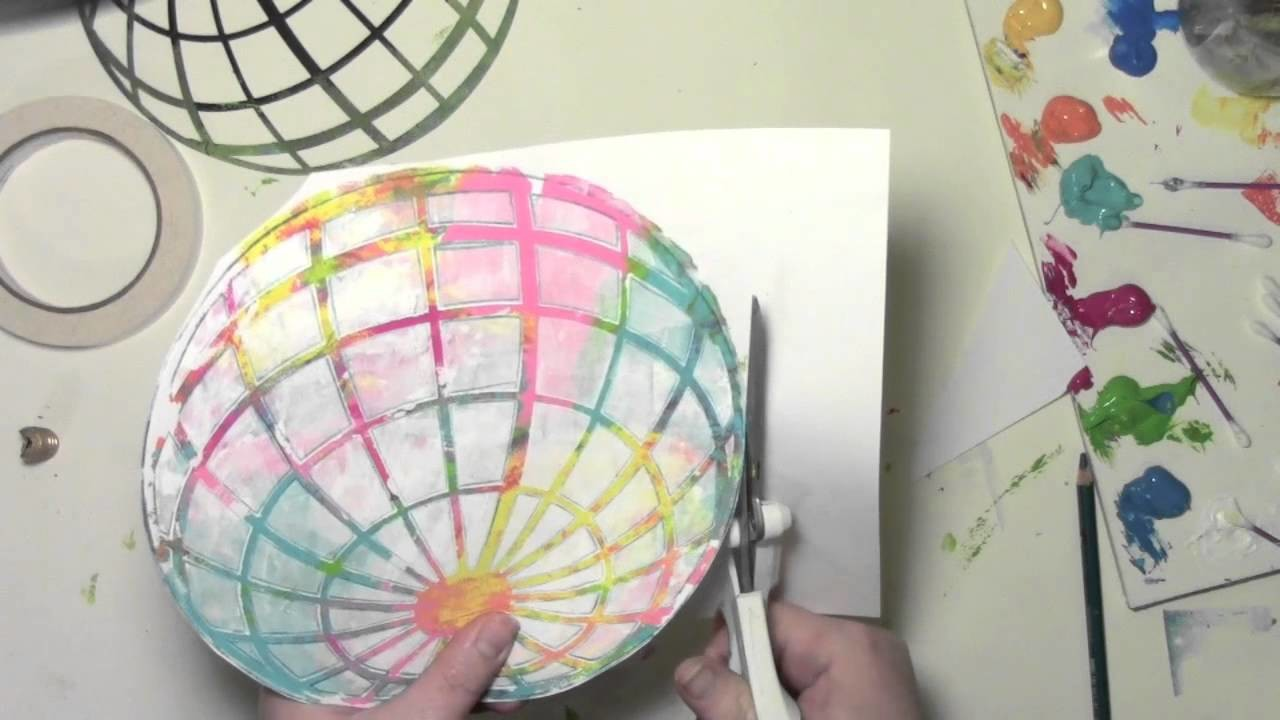 Using a Gelli Plate and Stencils to Make a Colorful World