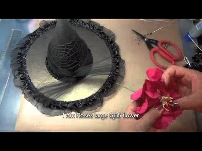 Altered Witch's Hat tutorial & I Am Roses BLOG HOP!
