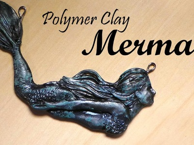 Antique Mermaid Pendant.Charm - Polymer Clay Tutorial