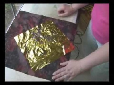 Applying Foil to Fabric Using Plants