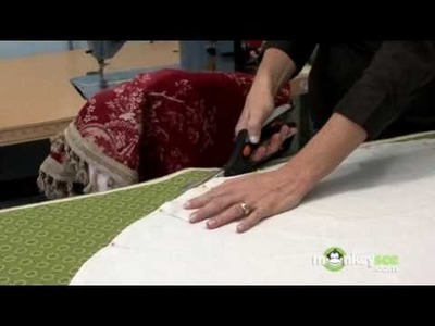 Christmas Tree Skirt - Attaching the Face Fabric and Trim