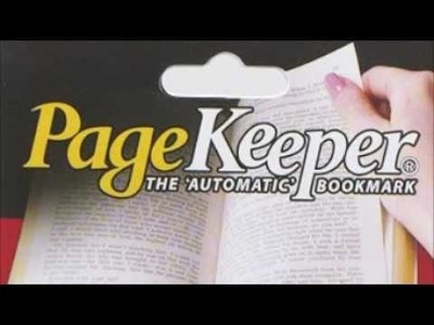 Cool Gift Idea For Book Worms - PageKeeper® Automatic Bookmark