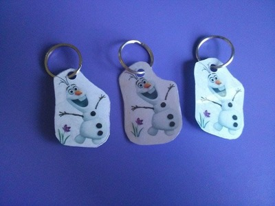 D.I.Y Frozen Key chain tutorial- Party favours