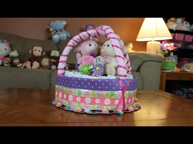 Diaper Cake Easter Basket (How To Make)