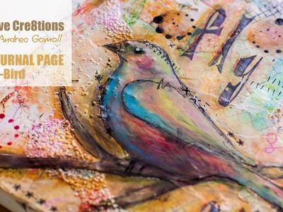 【ART JOURNAL PAGE】 Spring Bird