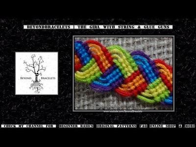 ► Friendship Bracelet Tutorial - Intermediate - Braided Leaves