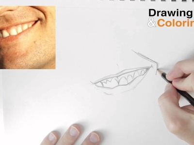 How to Draw A Smiling Mouth & Teeth Step by Step