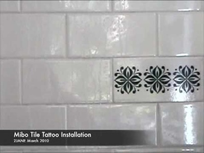 How to Install Tile Tattoos in a Bathroom