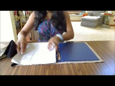 How to make a binder cover with pockets