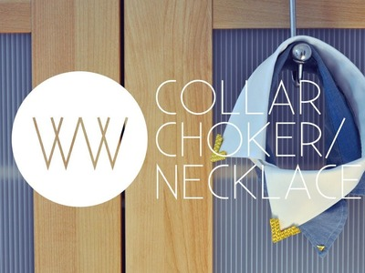 How to Make a Collar Choker (No-Sew Tutorial)