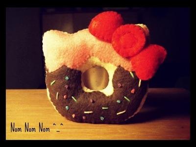 How To  Make A Kawaii Hello Kitty Donut Plushie