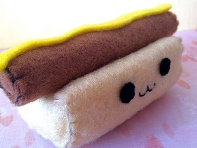 How to Make a Kawaii Hotdog Plushie