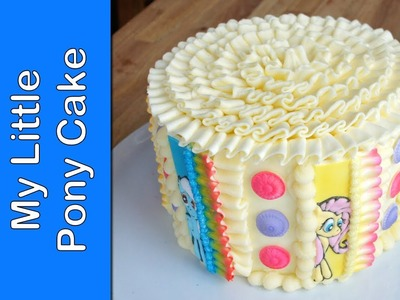 How to make a My Little Pony Cake - Buttercream ruffle cake (How to)