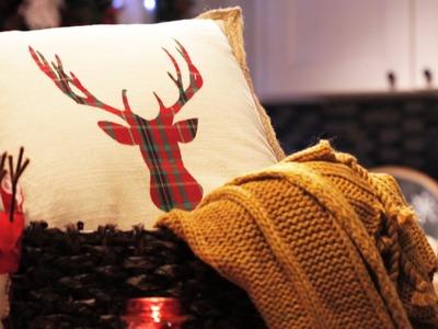 How to Make a No-Sew Christmas Pillow