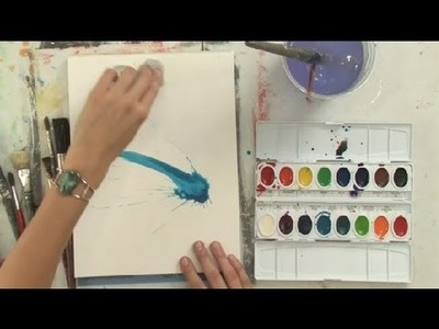 How to Make Do & Mend Watercolor Splatter : Watercolor Painting