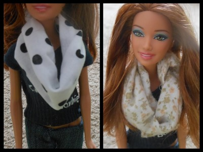 How to make doll scarf, infinity scarf, clothes [ create123barbie