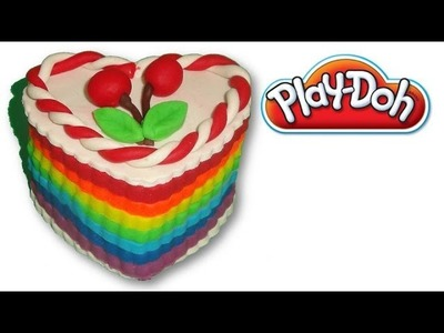 How to make rainbow cake from play-doh
